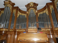 Frontansicht Orgel<div class='url' style='display:none;'>/</div><div class='dom' style='display:none;'>kirche-murten.ch/</div><div class='aid' style='display:none;'>45</div><div class='bid' style='display:none;'>243</div><div class='usr' style='display:none;'>32</div>